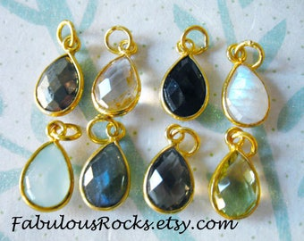 Gemstone pendant etsy 1 100 pcs gemstone pendant charm teardrop tear drop bezel gem charm pendant 14x825 mm 24k gold vermeil or sterling silver gcp4 gp aloadofball Gallery