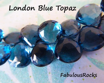 Original Blue Topaz Necklace Blue Topaz Beads 6x8-7x9mm Approx 45 Pieces Blue Topaz Faceted Pear Natural AAA Quality