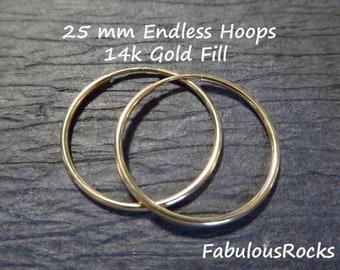 Sterling Silver or 14k Gold Fill Everyday Small Hoop Earwires Ear Wires ihs ih eh.20 1-10 pairs  Endless HOOP Earrings 0.8 20 mm