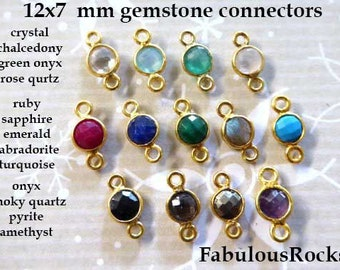 Jewelry Making Supplies DIY Lapis Connector Gold Electroplated Connector GemMartUSA GPJA-90042 Boho Findings Earring Connector