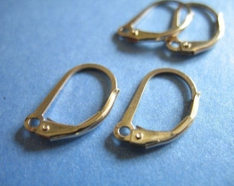 cf9a317ce9544 14k gold filled leverback earwires and findings   Etsy
