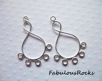 20mm Chandeliers Connectors Hallmarked 925 Oakhill Silver L80 2 Sterling Silver Infinity Ear Wire Hoop Dangles Links Eternity