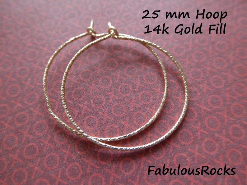 25 pairs 14k Gold Filled Earwires