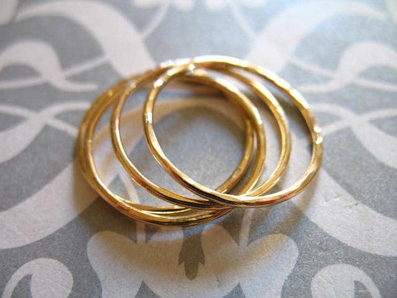 14k Gold Filled  artisan organic n200 Circle Links Connectors Charm Pendant  Halo Eternity Infinity Circle  Hammered 1-25 pcs  20 mm