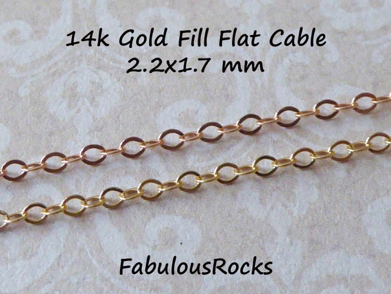 4mm Flat Circle Cable Chain in Sterling Silver Bulk Chain Supplies Rose Gold Filled 5 feet Gold Filled Extension Chains,SCNF61