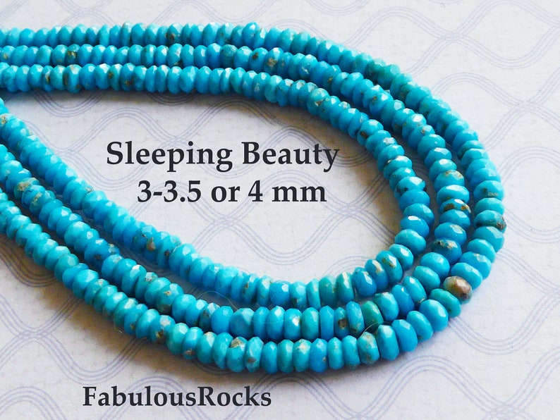 Faceted Sleeping Beauty Turquoise with Faceted Shell Beaded Necklace *FREE SHIPPING*