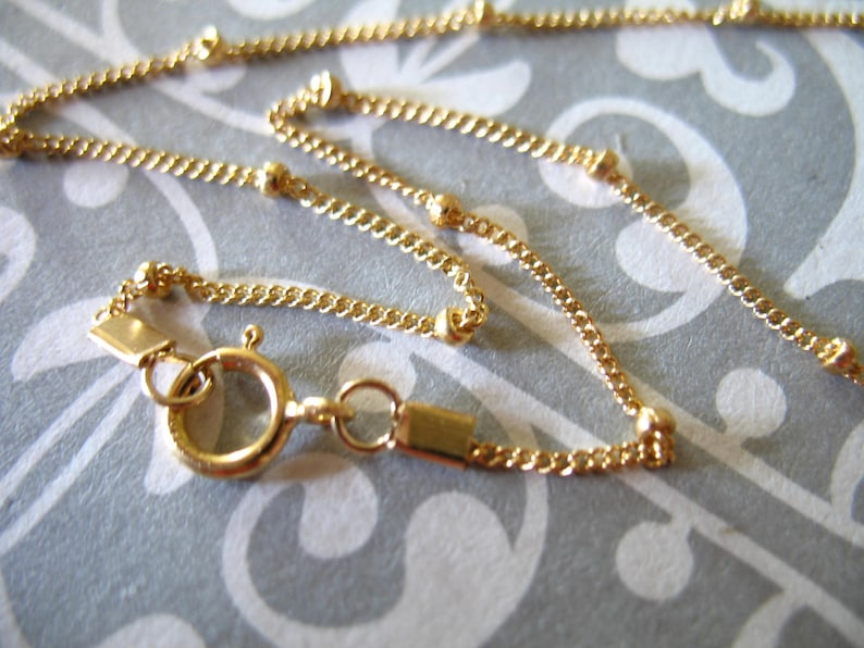 """Gold Cable CHAIN, 14kt 14k Gold Filled Chain, Finished Chain Necklace Chains 14 15 16 17 18 20 24 30 36"""" inch photo"""