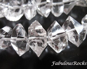 5-25 pcs / 7-8 mm Herkimers Diamonds Nuggets Crystals, Quartz Gemstones Gems, Double Terminated, Luxe AAA, SMALL, april healing nuggets s