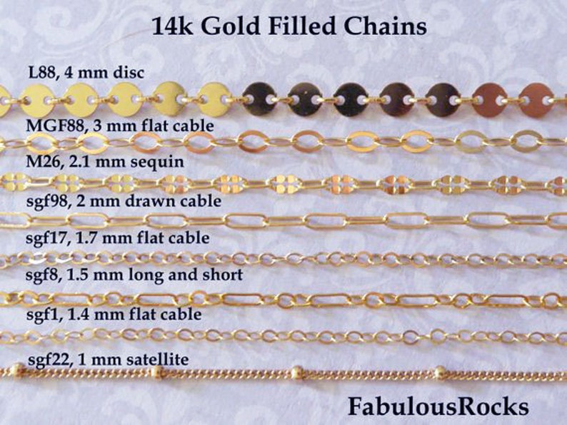 1-25 ft / Gold Fill CHAIN, 14kt 14k Gold Filled Chain, Cable Necklace Chain Wholesale Chain 1.3 1.5 1.7 2 mm  mmgf m38 sgf1 sgf7 sgf50 gs photo
