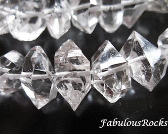 10-100 pcs / 6-8 mm Herkimer Gemstone Gems Diamonds Nuggets Herkimer Quartz Crystal / April Birthstone Double Terminated Briolettes, s