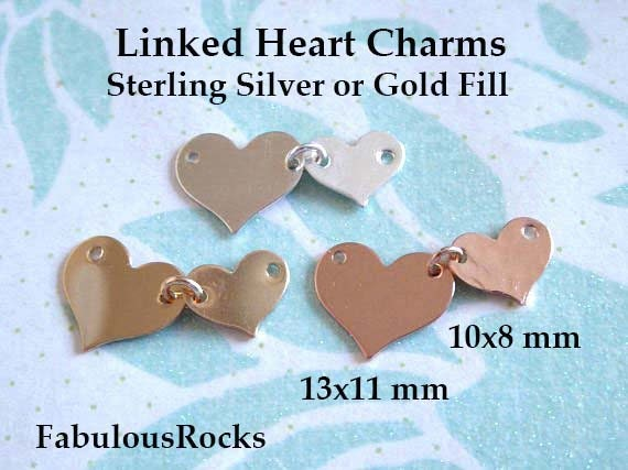 BH 5 Star Jewelry 14K 6 Yellow Gold Shiny Round Cable Link+1 Puffed Drop Heart ID Bracelet with Lobster Clasp