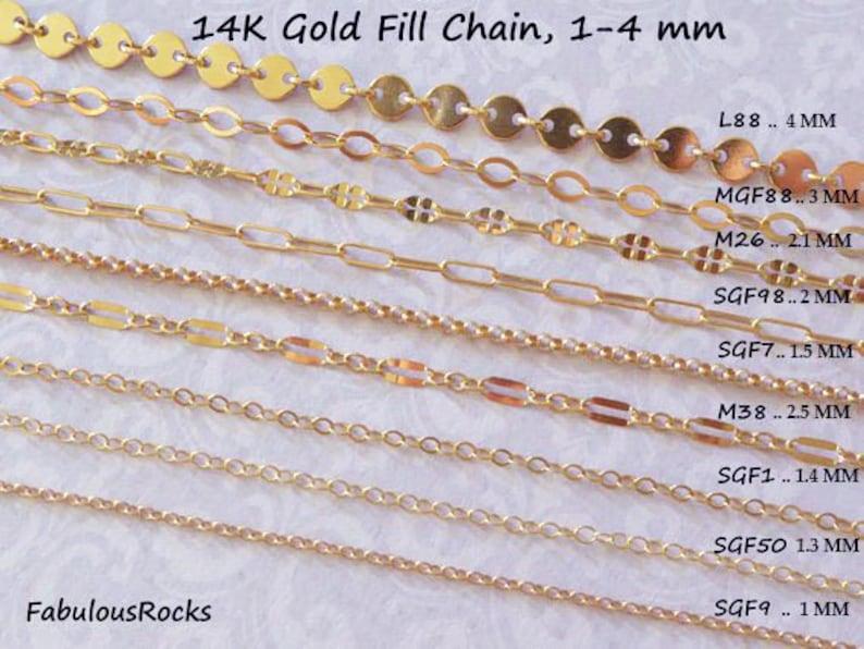 cfe90395a3d 1-25 feet / Gold Fill CHAIN, 14k Gold Filled Chain, Necklace Chain  Wholesale Chain, delicate / l88 mgf88 m26 sgf98 m38 sgf1 sgf7 sgf22 sgf50