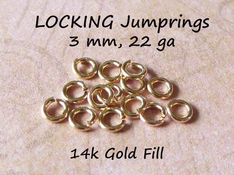 25-500 pcs, 14k Gold Filled Jumprings Jump Rings Bulk, OPEN, 3 mm, 22 gauge ga, Tiny Dainty, wholesale Locking Jump Rings  fc.s jr3 photo
