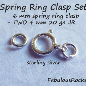 Open or Closed Loop 5 Sets  14k Gold Filled 6 mm SpringRing Clasp Spring Ring Clasps and Jump Ring SETS Wholesale Jewelry Supplies fc.s