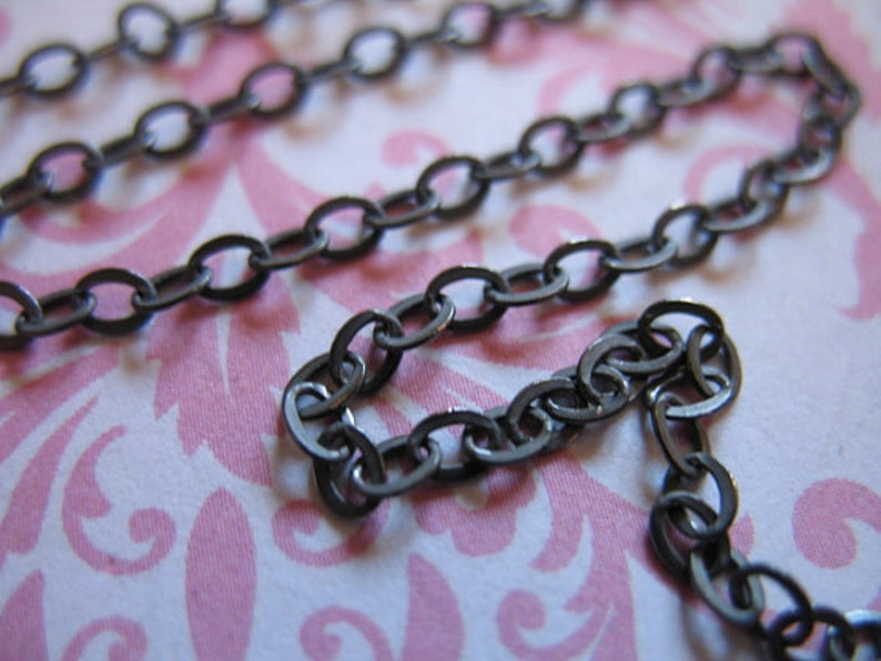 Bracelet Necklace Anklet Extender Wholesale Bulk Chains  mmss m55 hp 5-100 ft Sterling Silver Chain  Flat Cable Chain  3.5x2.5 mm