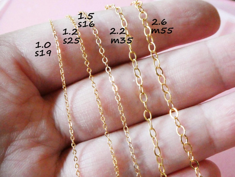 GF1617F Price Per Foot 1 FT 2x2.5 mm 14K Gold Filled Flat Cable Chain 0.35 mm Thickness