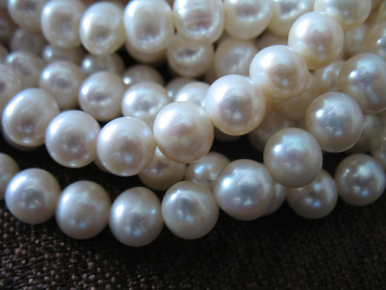Freshwater Pearls 7-8 mm 12 Strand June birthstone brides bridal rw .pearl 788 Round Pearls Cultured Pearls WHITE Pearls