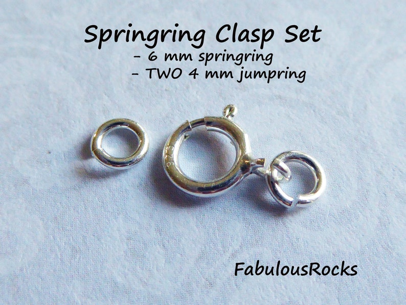 Wholesale 10pcs Sterling Silver Spring Ring Clasp Jewelry Making Findings