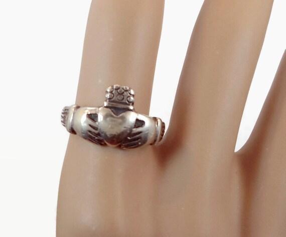 8b89831e9e2a32 Anneau de Claddagh, argent massif, bague Vintage, bijoux irlandais, bague  celtique, 925, taille 8, mariage irlandais, ...
