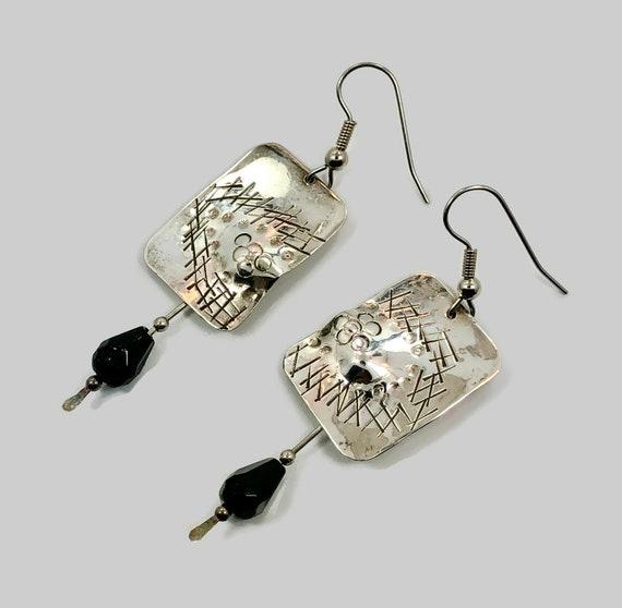 SterlingGold Filled Contemporary Earrings Tabra Modern Earrings Amethyst Sterling Silver Large Disc