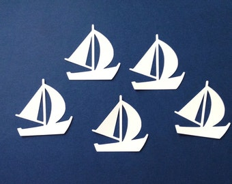 sailboat sillhouettes die cut embellishments set of 8