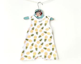 Baby Toddler Summer Romper • Pineapple Fruit Print Jumpsuit • Shortie Romper • Summer Clothes • Newborn Jumper • Hawaiian Boys Girls Romper