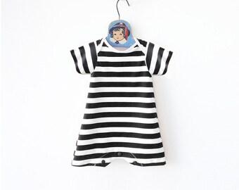 bc0ce7babae30 Retro Striped Baby Swimsuit, Baby Boy Swimwear, Toddler Bathing Suit, Baby  One Piece Maillot, Swim Bodysuit, UV Protection, Boy Beachwear