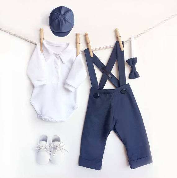e33532183ed1 5 Piece Navy Blue Outfit Navy Baby Clothes Page Boy Outfit