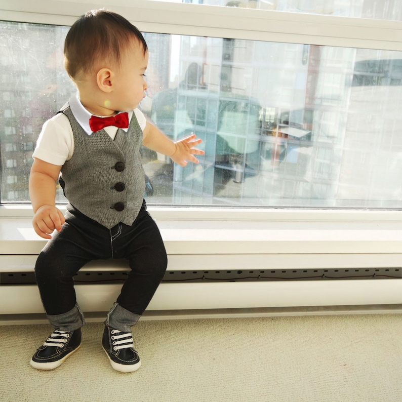 Baby Boy First Birthday Outfit Suit Spring Ring