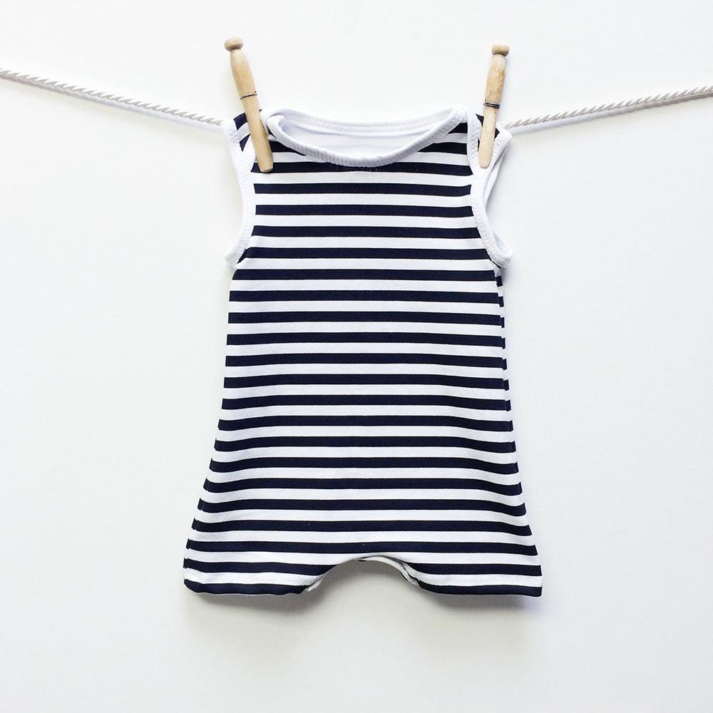 Retro-schwarz und weiß gestreift Baby Badeanzug Baby junge | Etsy