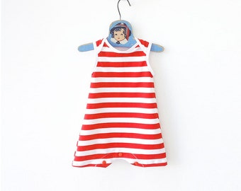 Baby Strong Man Costume, Baby Halloween Costume, Circus Baby Costume, Red Stripes Striped Bodysuit, Last Minute Costume, My First Halloween
