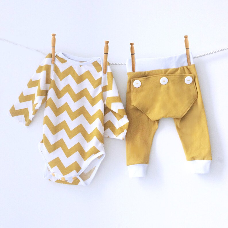 eea7574d6e Mustard Yellow Baby Matching Pajamas Unisex Baby Gifts
