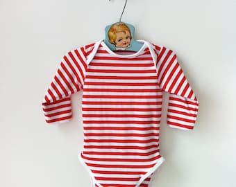 Red and White Striped Onesie, Valentines Day Baby, Valentines Baby Onesie, Valentine Baby Gift, 1st Valentines, Baby Boy Valentines