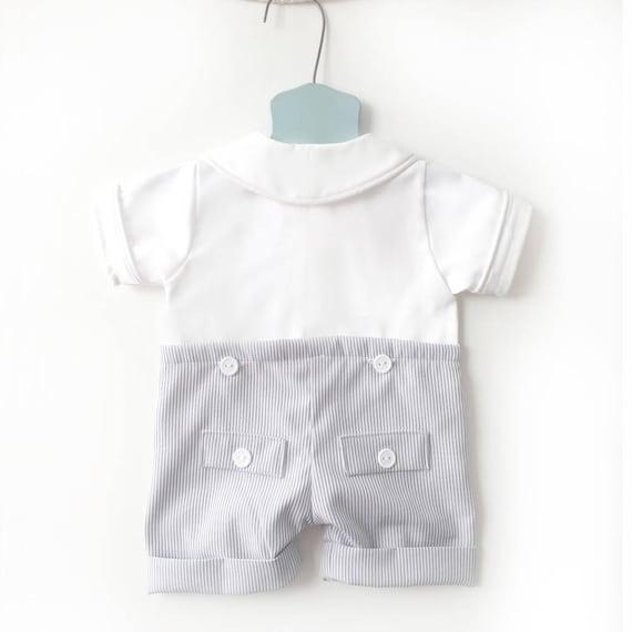 Boy/'s birthday numéro Bleu Pyjama à Rayures Pyjama Baby Sleepwear Prince cadeau mignon
