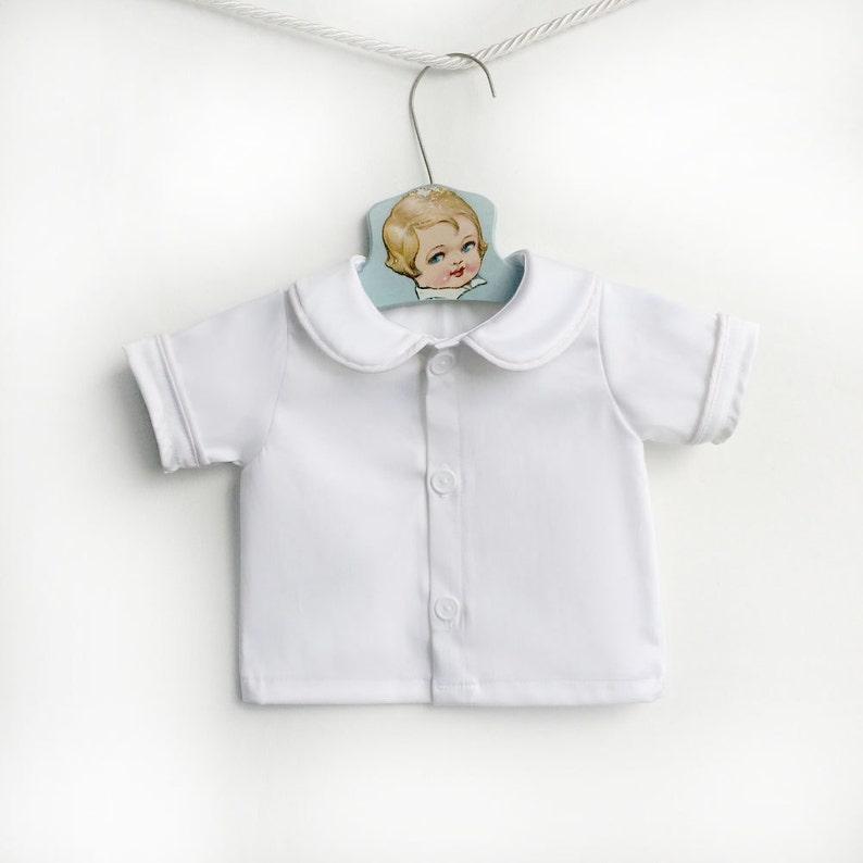 9f7d6412c Baby Boy White Peter Pan Collar Shirt Infant White Collared