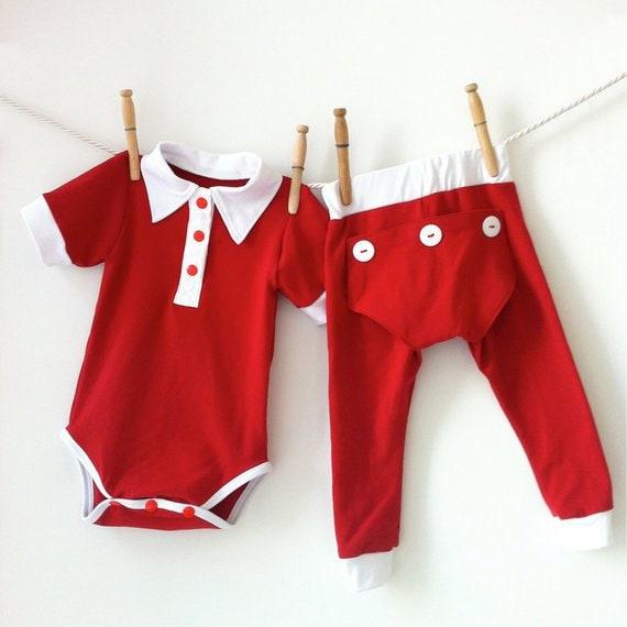 8cf35f70b Handmade Dressy Baby Boy Christmas Outfit Baby Christmas