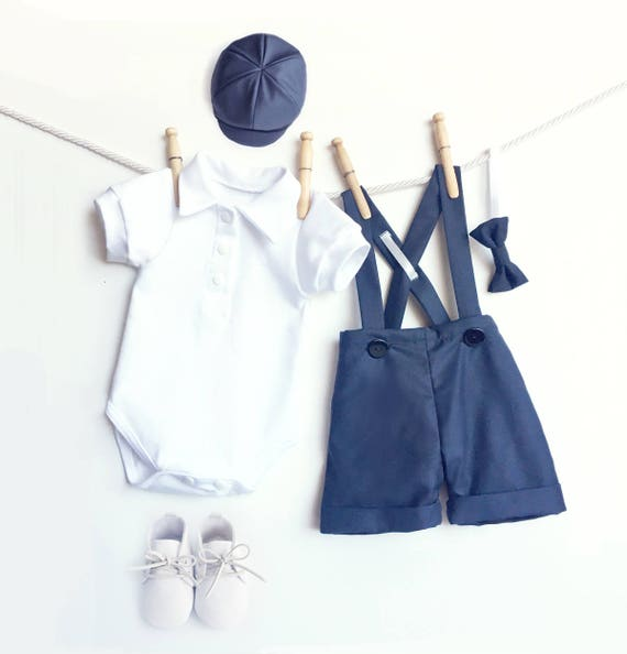 Baby Boy Outfit Navy Blau Hochzeits Outfit Sommer Junge 1 Etsy