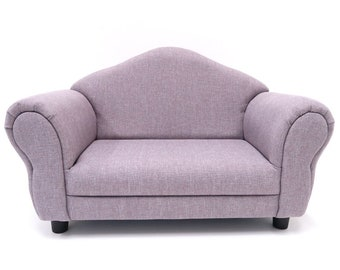 Lavender Child SOFA Photo Prop, Toddler Kid Couch, Gray Purple Nursery Room  Furniture, Kid Bedroom Sofa, Photography Prop FORD