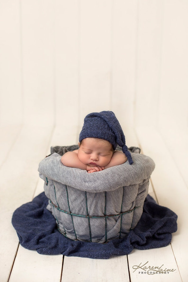 c62f636fb6d5 Boy Props USA Made Blue Stretch Sweater Knit Wrap Swaddle
