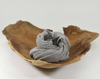 GRAY Newborn Wrap Photo Props, Posing Props, Handmade Props, Baby Boy Stretch Wrap, Wraps, Knit Baby Wraps, Photography Props, GRAVEL DREAM
