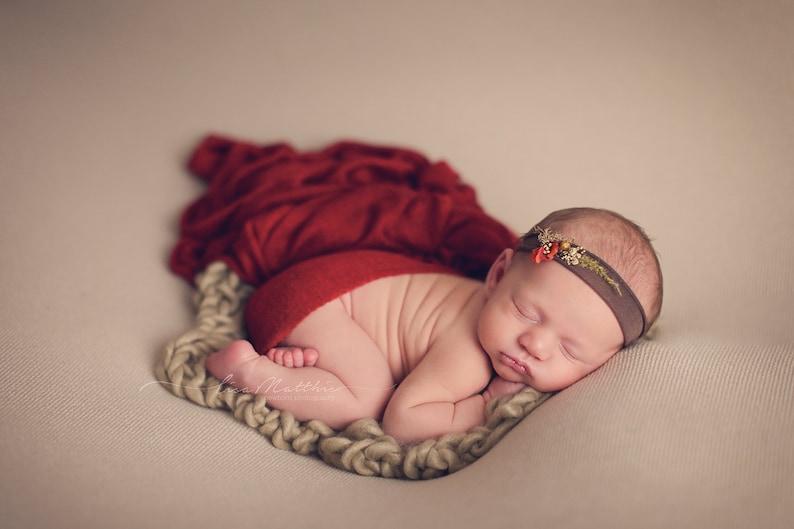 Flower girl Newborn Tiebacks Baby Headband Jersey Tieback Newborn Baby Headband Baby Headband Newborn Baby Girl Photos Prop headband