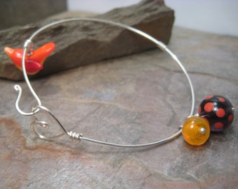 Silver with Glass (Bracelet) SRA Artisan Beth Mellor Beeboo