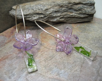 Fused and Flameworked Glass (Earrings) SRA Artisan Beth Mellor Beeboo