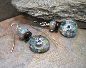 Flameworked Glass Silver (Earrings) SRA Artisan Beth Mellor Beeboo
