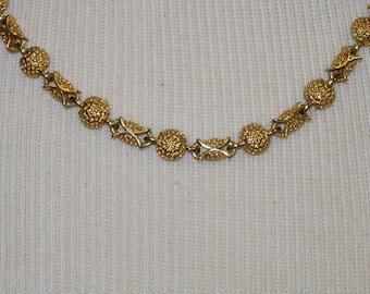 Vintage Goldtone Necklace by PD