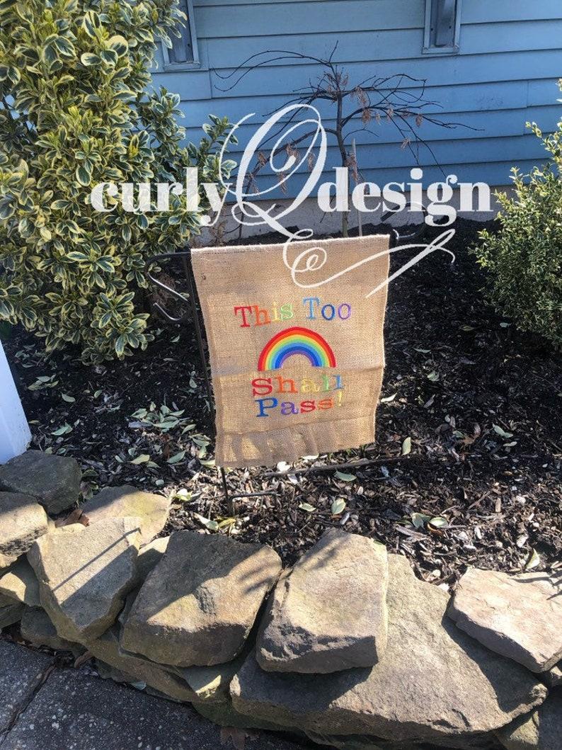 Rainbow garden flag image 0
