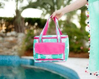 Embroidered Cooler bag - Mint Sea Star