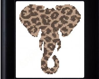 Elephant/Leopard Mashup Cross Stitch Pattern