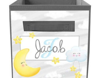 Sweet Dreams Bin Kid/'s Personalized Bedroom Baby Nursery Organizer for Toys or Clothing FB0318