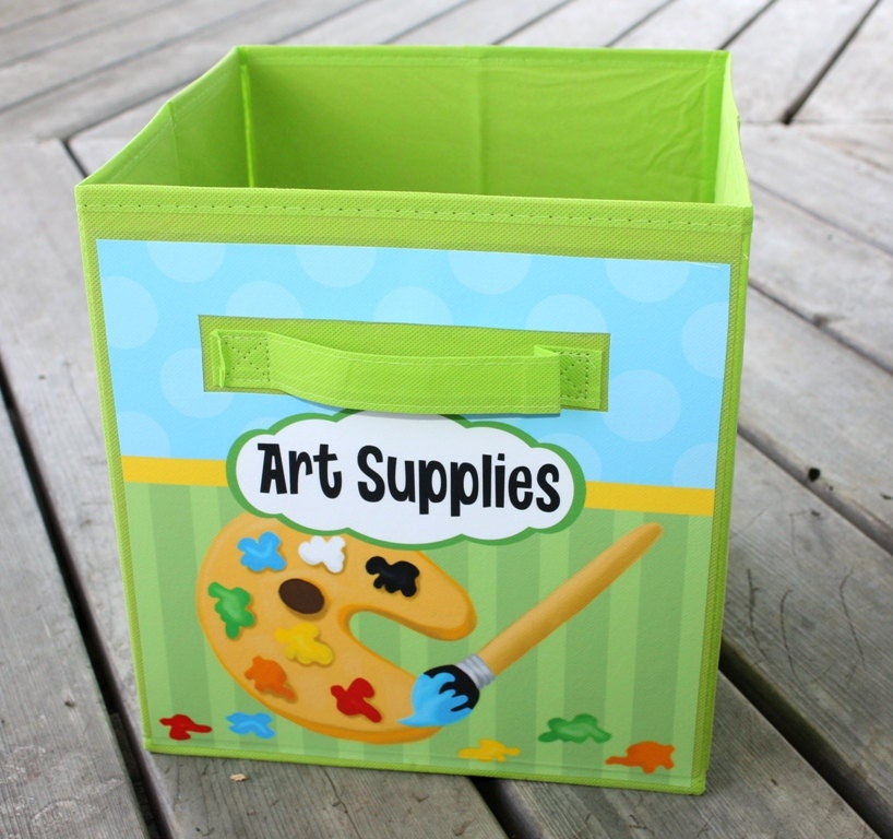 Bedroom Art Supplies: Art Supplies Fabric Bin Boys Girls Personalized Bedroom